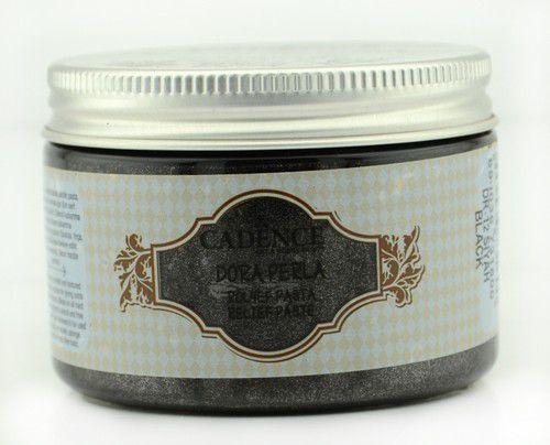Cadence - Dora Perla Metallic Relief Pasta - Zwart