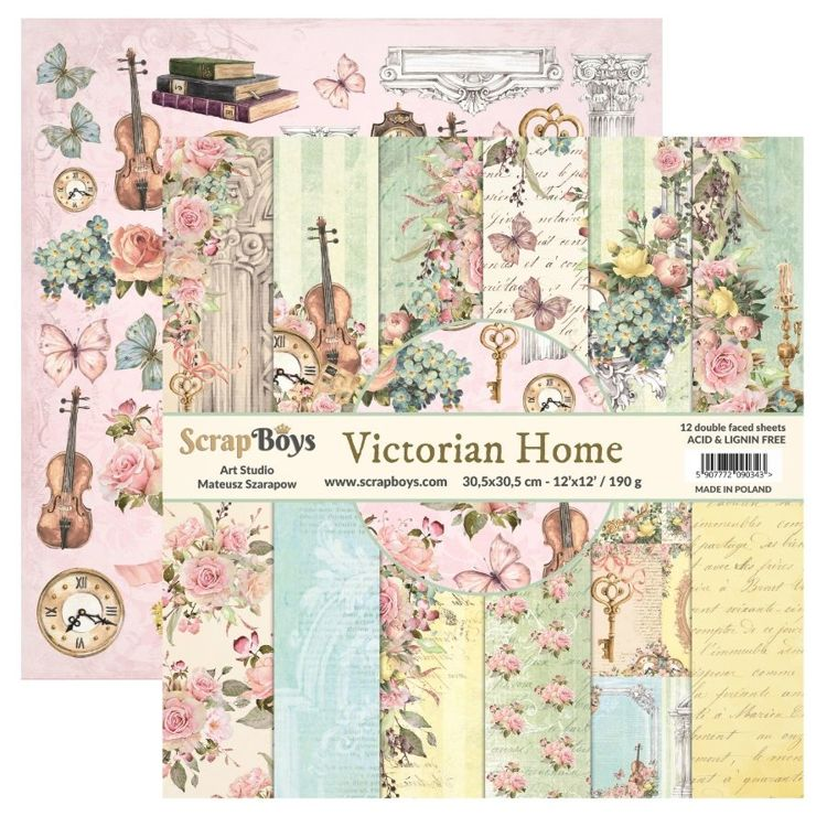 ScrapBoys - Victorian Home - Paperpad 30,5 x 30,5