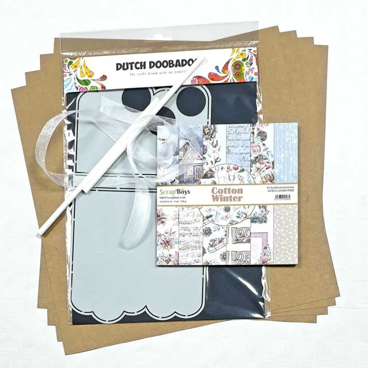 FacebookLIVE (11 december) - COMBINATIESET - Workshop Mini Rietjes album met Cotton Winter/ScrapBoys
