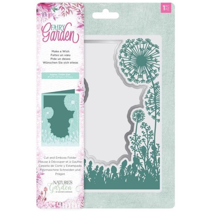 Crafter's Companion - Fairy Garden - Cut & Embos folder - Make a Wish