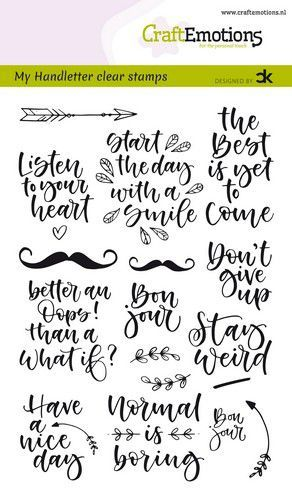Clearstamp CraftEmotions - Handlettering Carla Kamphuis - Quotes 1 EN