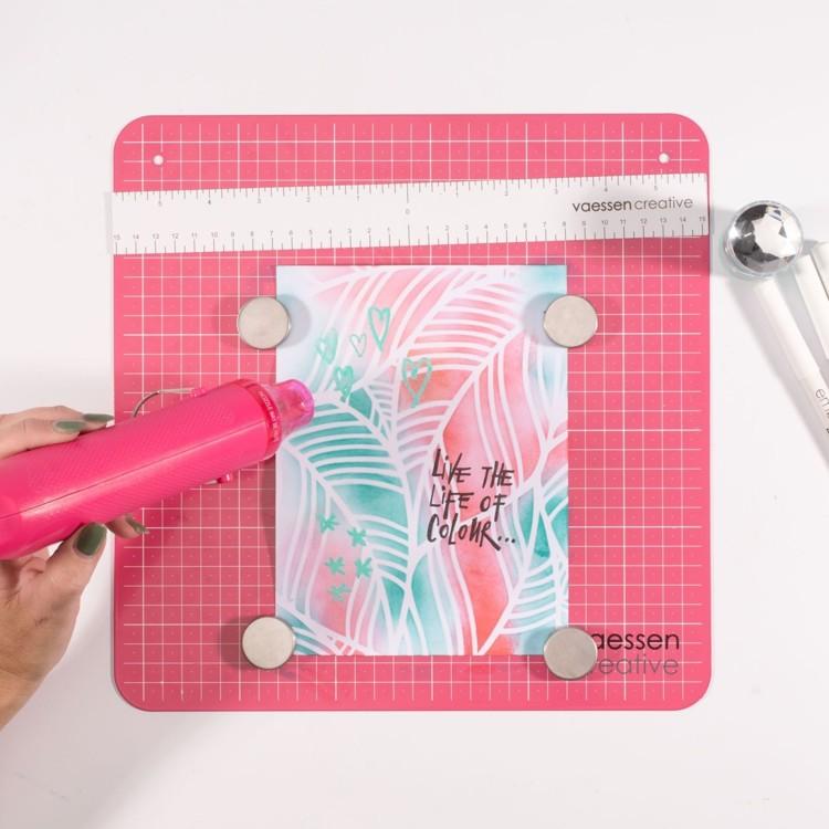 Vaessen Creative - Work Easy Metal Magnetic Board - 30,5x30,5cm