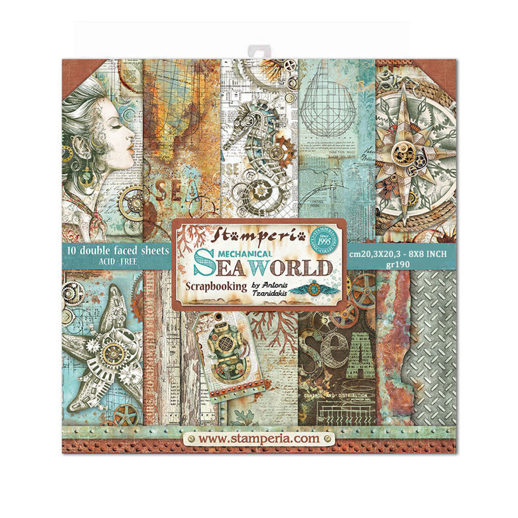 Paperpad Stamperia - 20,5 x 20,5 cm - Sea World