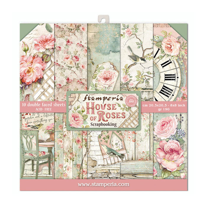 Paperpad Stamperia - 20,5 x 20,5 cm - House of Roses