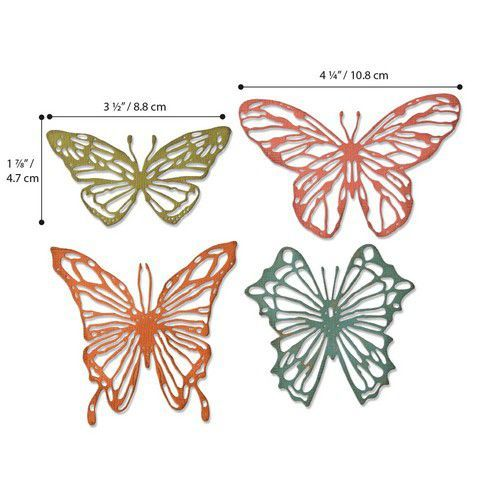 Sizzix - Thinlits Die Set - Scribbly Butterfly (4pk)