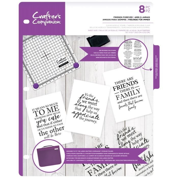 Crafter's Companion -  Clearstamps Sentiment & Verses - Friends Forever