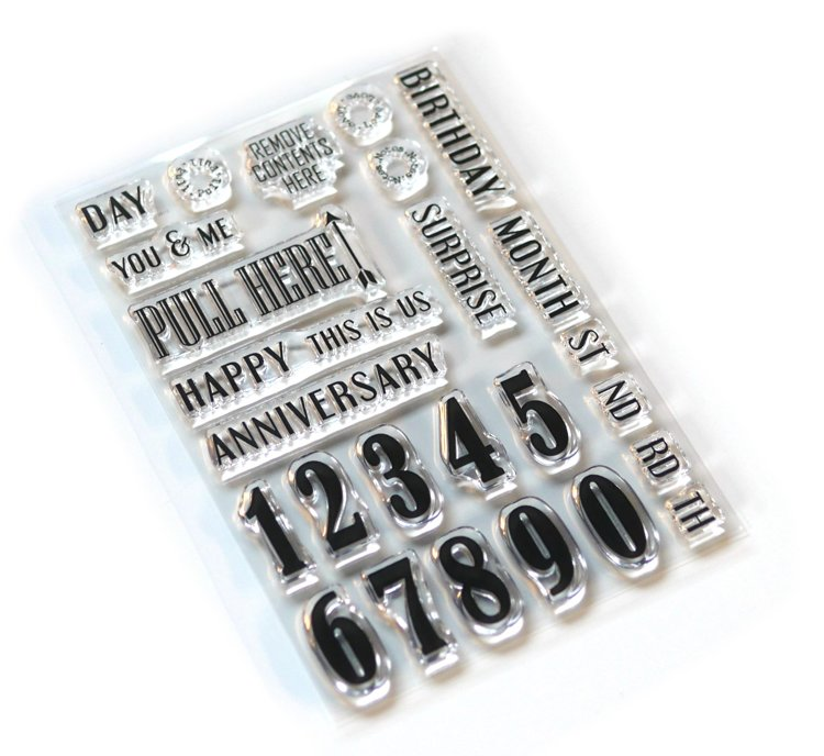 Elizabeth Craft Designs - Clearstamp - Pieces of Life 1 - Number & More