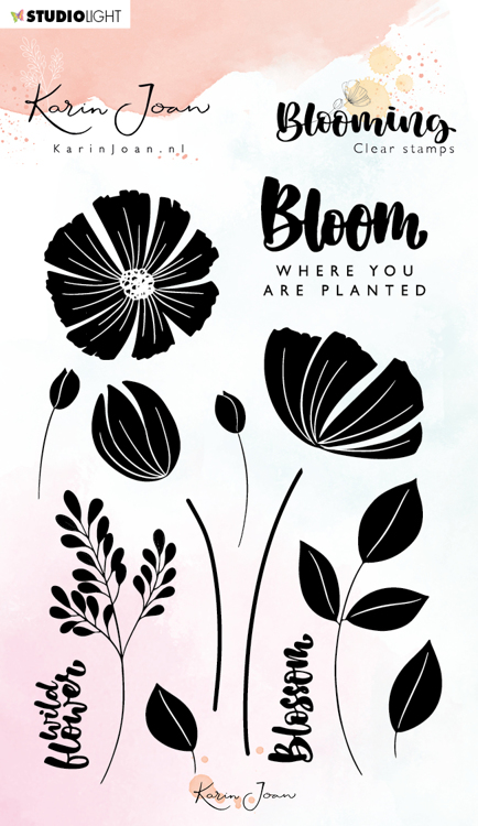 Studio Light - Karin Joan Collection Blooming - Clearstamp A6 - STAMPKJ01