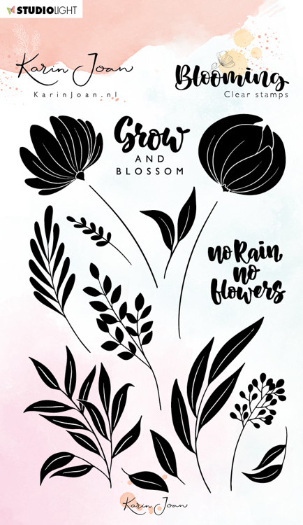 Studio Light - Karin Joan Collection Blooming - Clearstamp A6 - STAMPKJ03