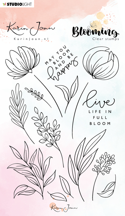 Studio Light - Karin Joan Collection Blooming - Clearstamp A6 - STAMPKJ04