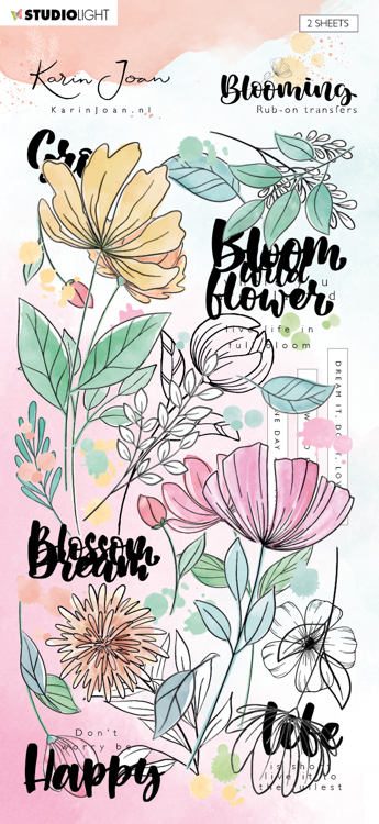 Studio Light - Karin Joan Collection Blooming - Rub-On Stickers - RUBKJ01
