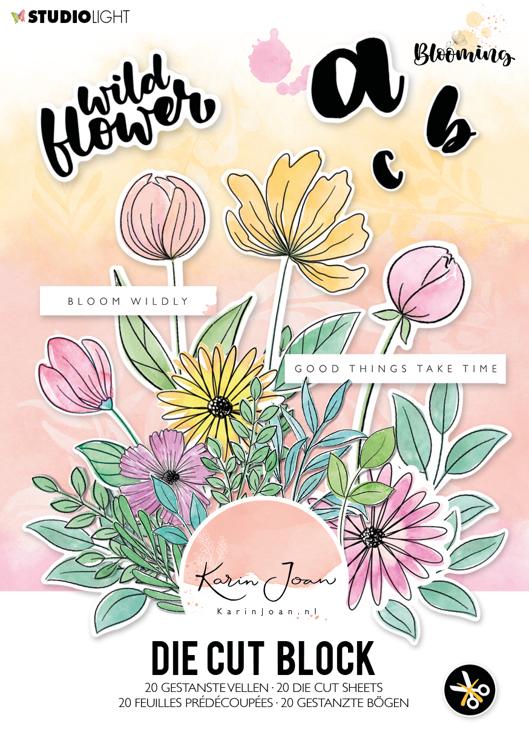Studio Light - Karin Joan Collection Blooming - Die-Cut Block A5 - A5STANSBLOKKJ01