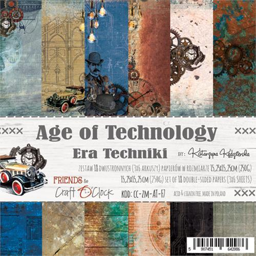 Craft-O-Clock - Paperpad 15,2 x 15,2 cm - Age of Technology