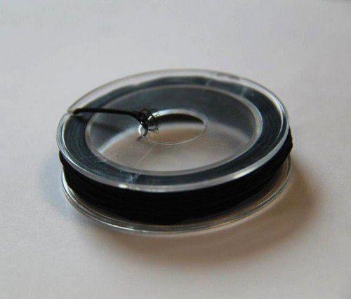 Elastisch koord - zwart - 1mm - 5 MT