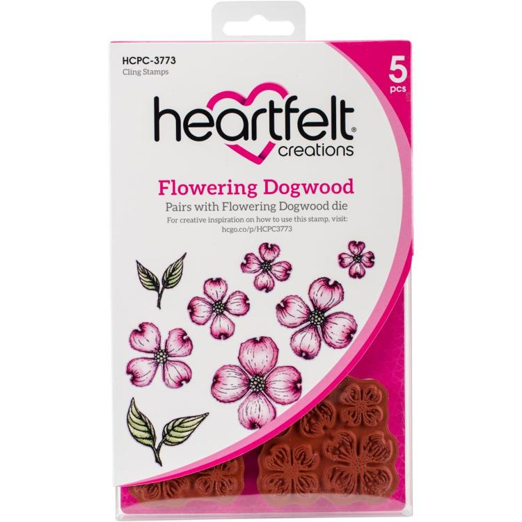 Heartfelt Creations - CLING RUBBER STAMP - Flowering Dogwood