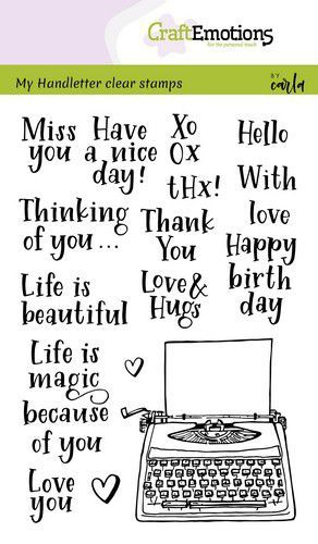 CraftEmotions - Clearstamps A6 - Handletter - Typewriter quotes