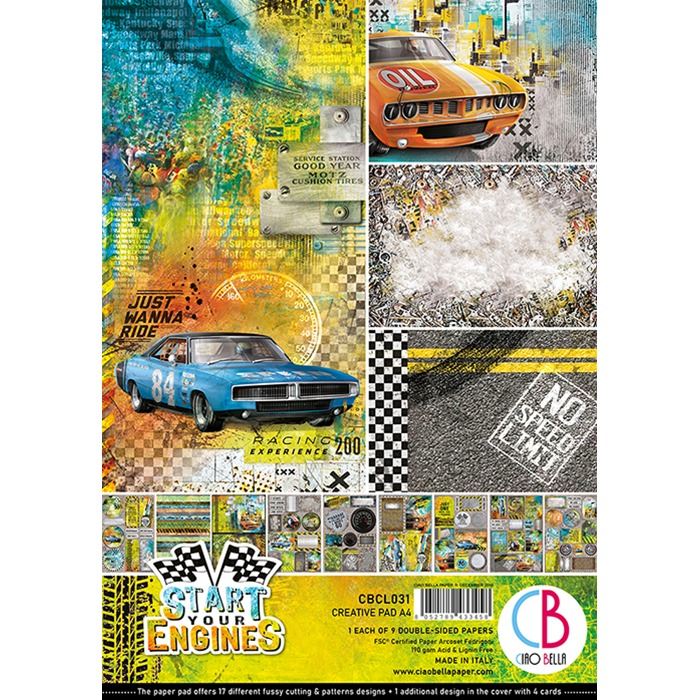 Ciao Bella - Paperpad A4 - Creative Pad - Start your Engines