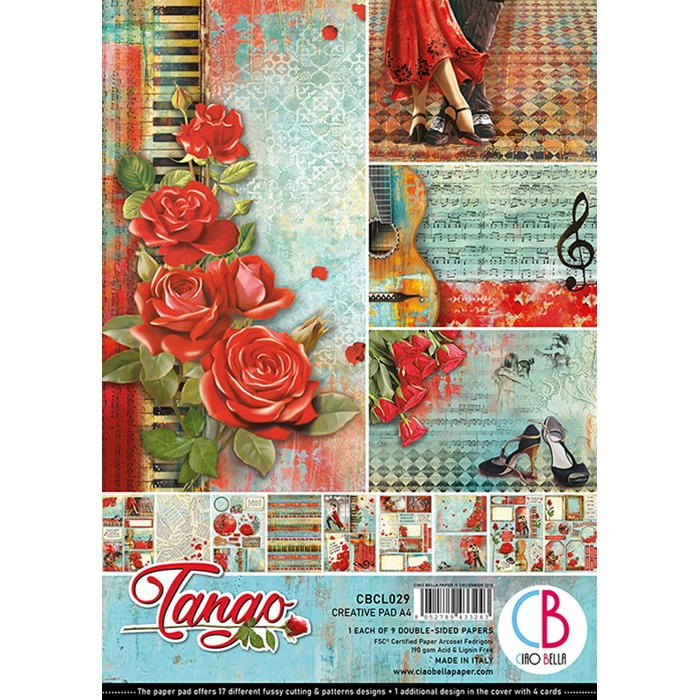 Ciao Bella - Paperpad A4 - Creative Pad - Tango