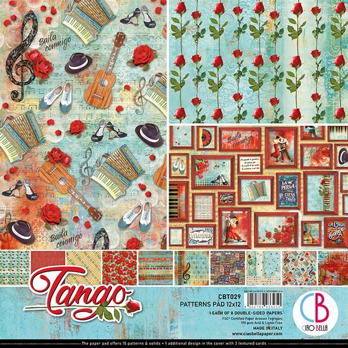 Ciao Bella - Paperpad 30,5 x 30,5 cm - Patterns Pad - Tango
