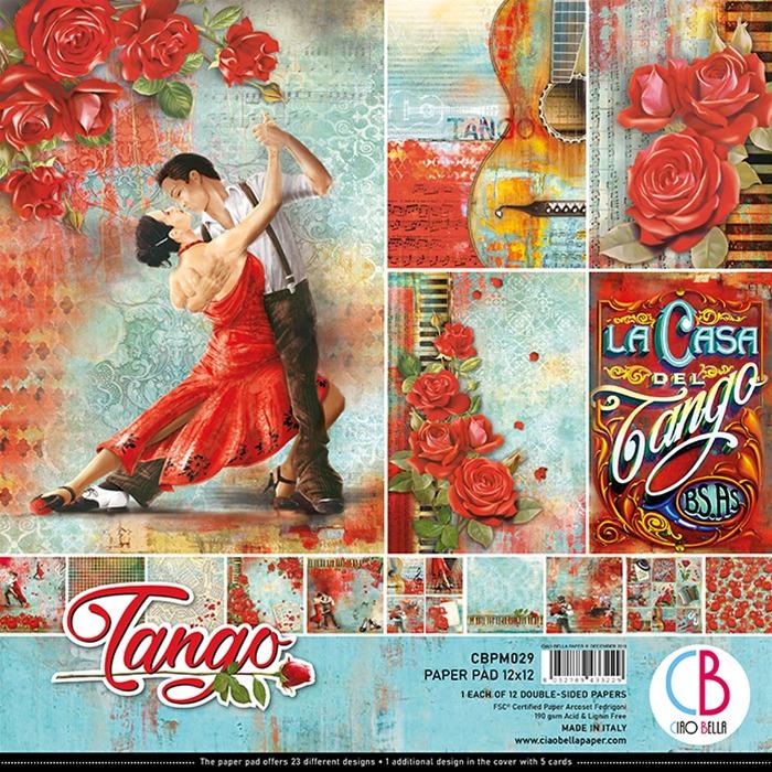 Ciao Bella - Paperpad 30,5 x 30,5 cm - Design pad - Tango