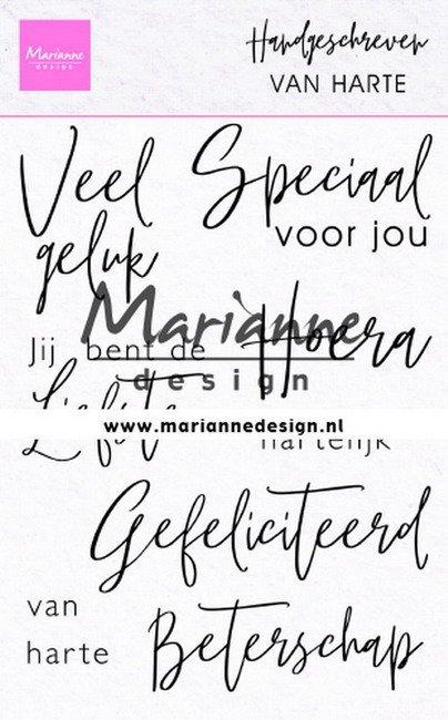 Marianne Design - Clearstamp - Handgeschreven teksten: Van harte