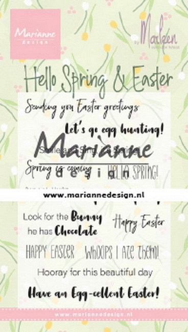 Marianne Design - Clearstamp by Marleen - Hello Spring & Easter