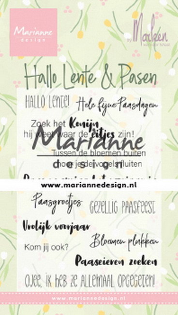 Marianne Design - Clearstamp by Marleen - Hallo Lente & Pasen