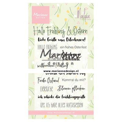 Marianne Design - Clearstamp by Marleen - Frohe Oster