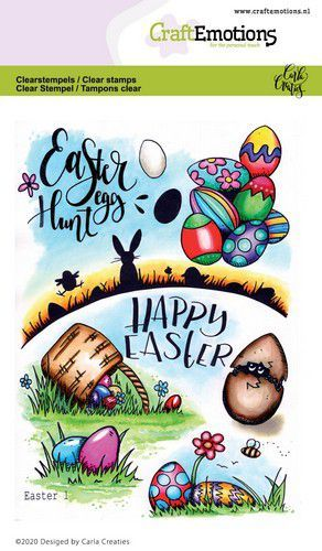 CraftEmotions - Clearstamps A6 - Carla Creaties - Easter 1