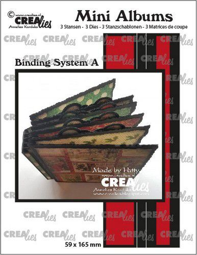 Stansmal Crealies - Mini Albums - Binding systeem A