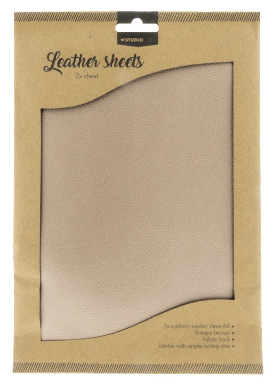 Studio Light - Fake Leather Sheets - Licht Brown 01
