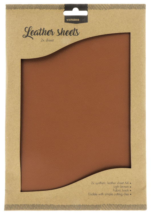 Studio Light - Fake Leather Sheets -  Brown 02