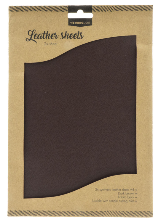 Studio Light - Fake Leather Sheets -  Dark Brown 03