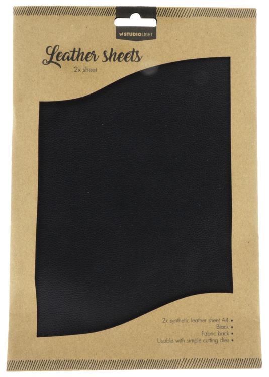 Studio Light - Fake Leather Sheets -  Black 04