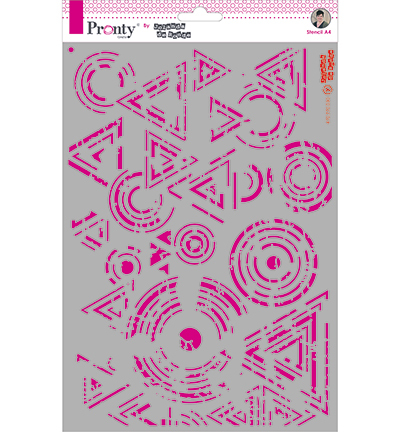 Pronty by Jolanda de Ronde - Mask stencil - A4 Grunge Triangles & Circles