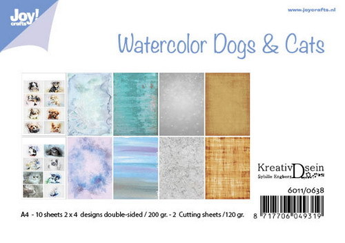 Joy! Crafts - Paperpad A4 - Bille's Aquarell Dogs & Cats
