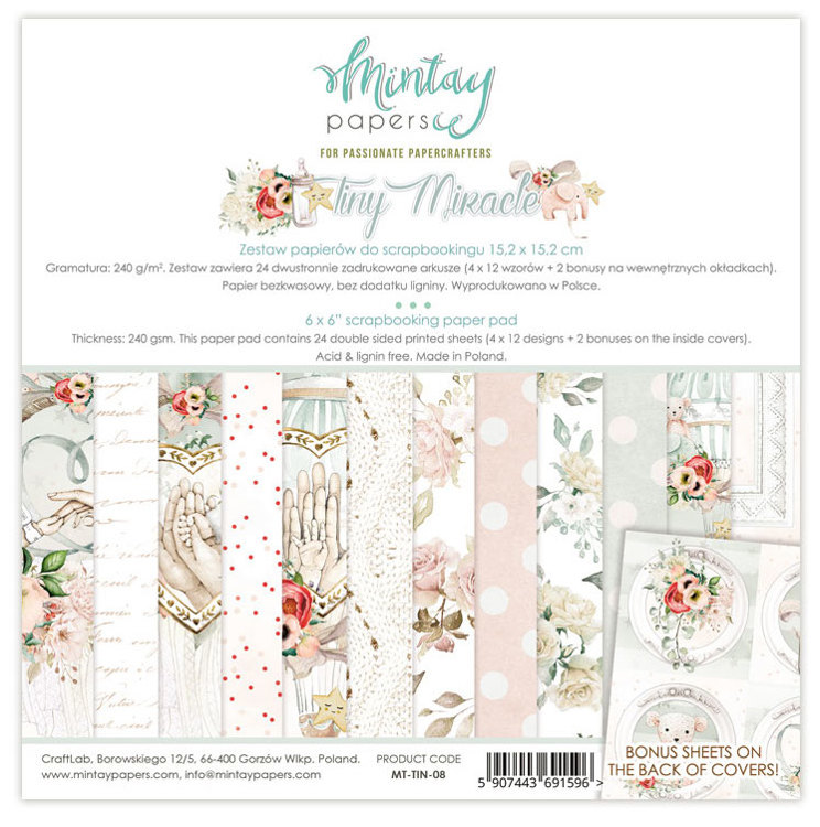Paperpad Mintay - Tiny Miracles 15,2 x 15,2 cm - MT-TIN-08