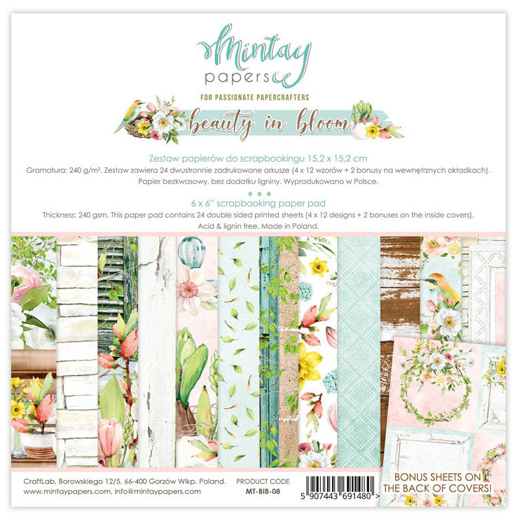 Paperpad Mintay - Beauty in Bloom 15,2 x 15,2 cm - MT-BIB-08