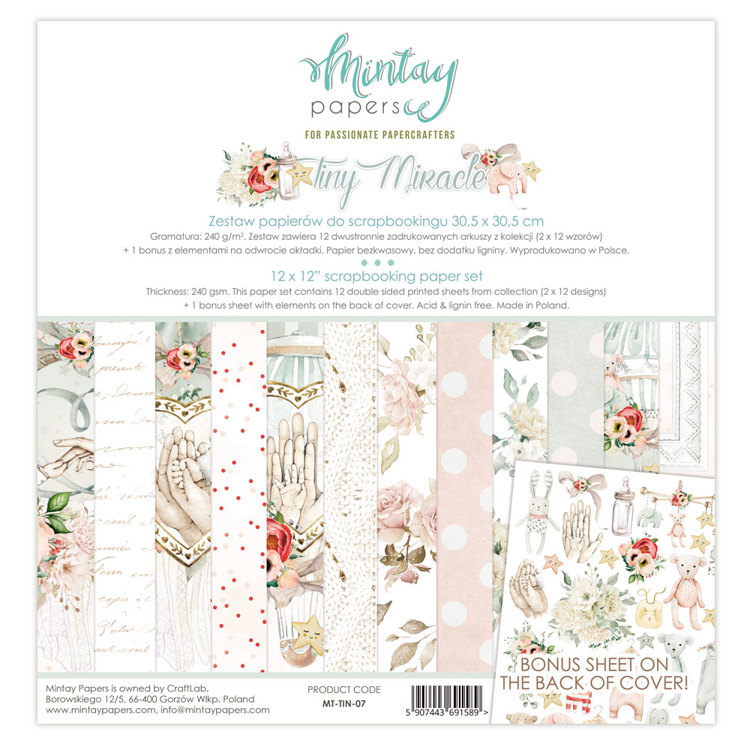 Paperpad Mintay - Tiny Miracle 30,5 x 30,5 cm - MT-TIN-07