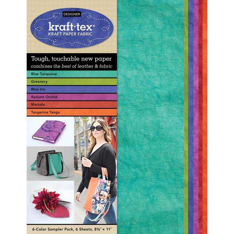 "Kraft-Tex - Designer Sampler Pack 8.5""X11"" 6/Pkg - Colors"