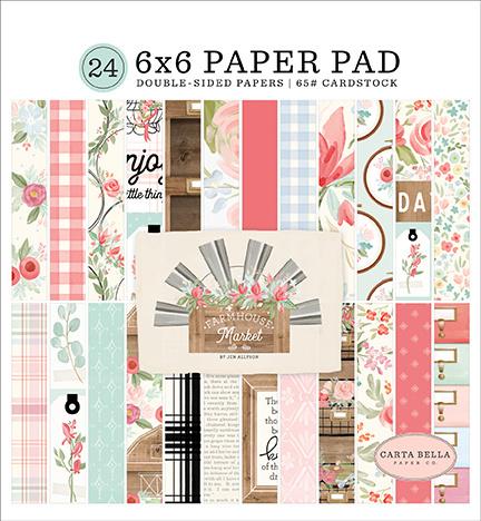 "Carta Bella - Farmhouse Market - Paperpad 6"" x 6"""