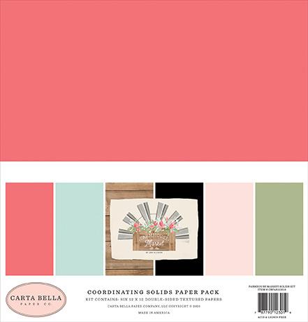 Carta Bella - Farmhouse Market - Coordinating Solids Paper Pack (6 vel)