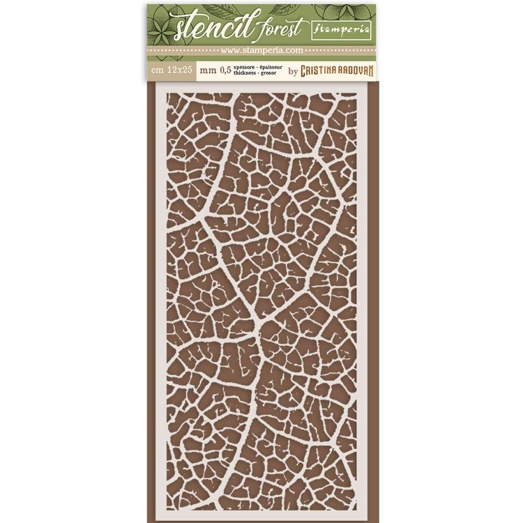 Stamperia - Thick Mixed Media Stencil - Leaf