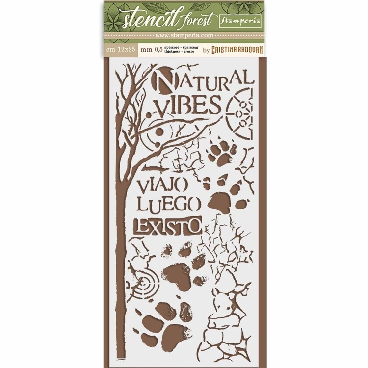 Stamperia - Thick Mixed Media Stencil - Forest Paw