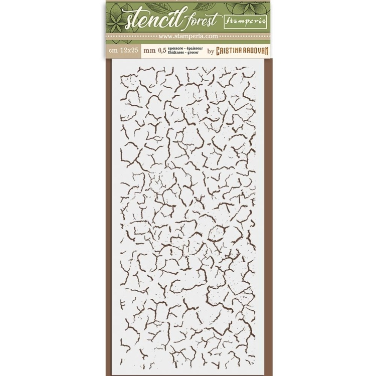 Stamperia - Thick Mixed Media Stencil - Crackle