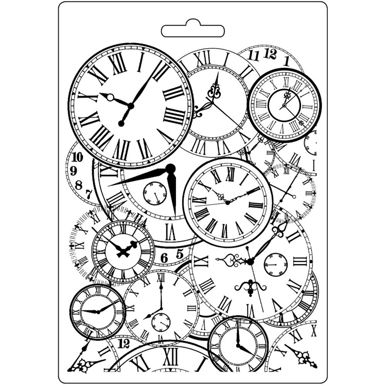 Stamperia - Soft Mould A5 - Clocks