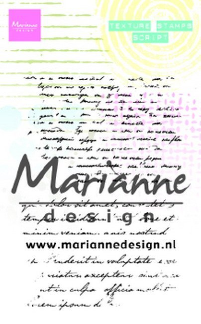 Marianne Design - Clearstamp - Texture Stamps - Script