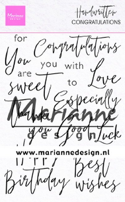 Marianne Design - Clearstamps - Handwritten: Congratulations