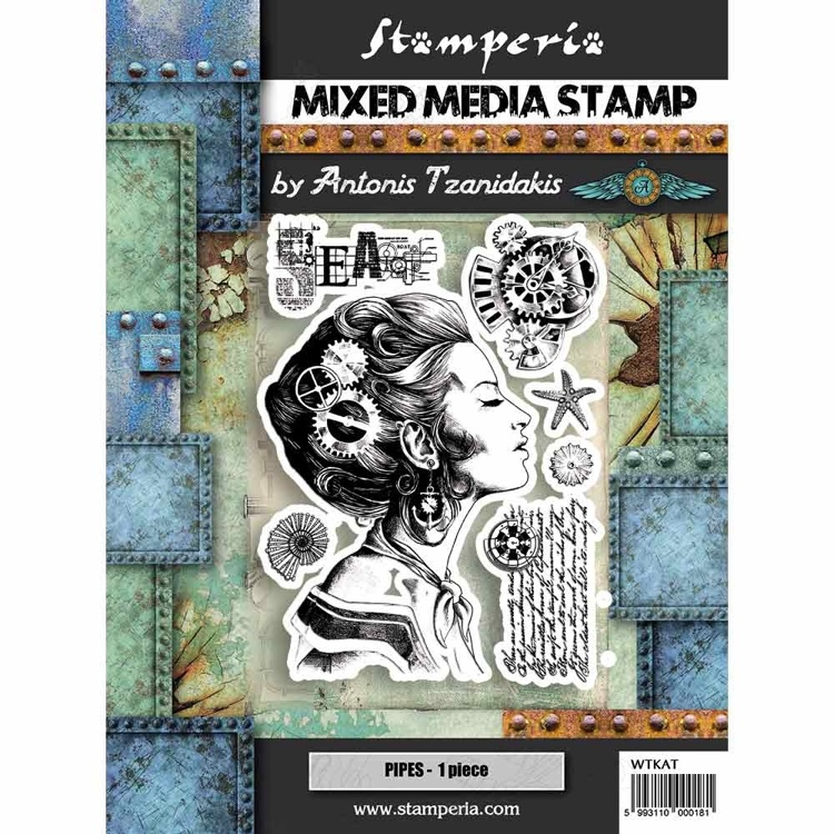 Mixed Media Stamp - Stamperia - Lady