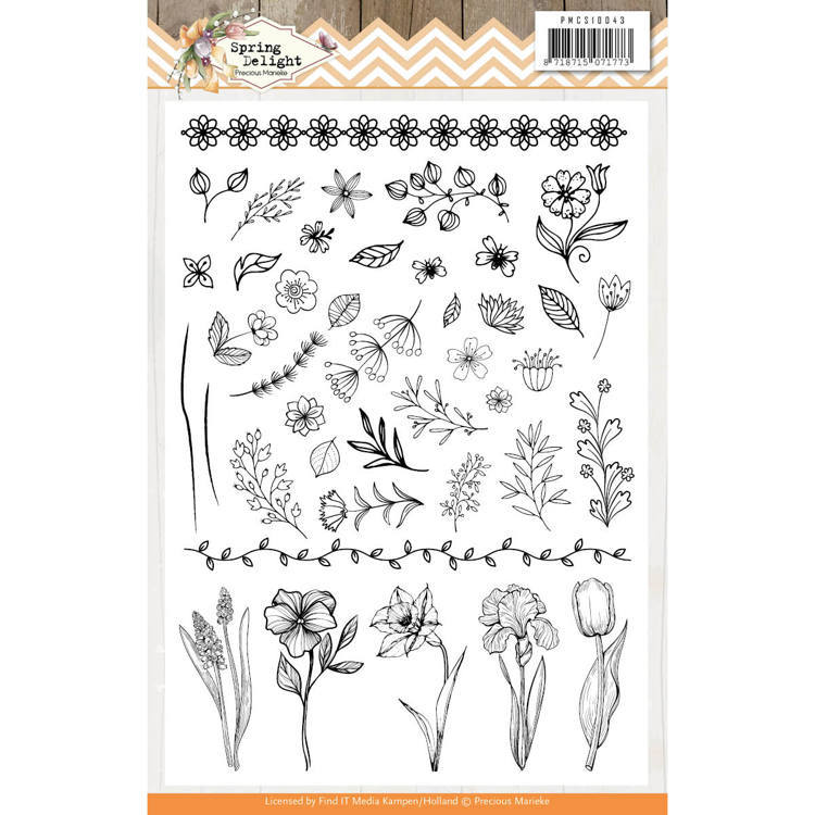 Clear Stamps - Precious Marieke - Spring Delight